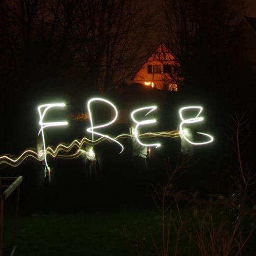 Light Art 'free' - Square
